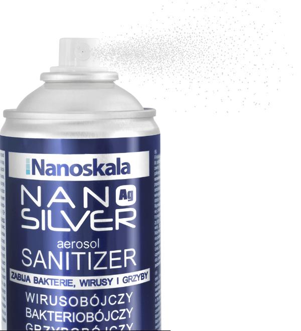 Nano Silver Aerosol Sanitizer – dezynfekuje powierzchnie, usuwa wirusy, grzyby i bakterie